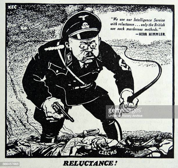 Illustration of Heinrich Himmler was Reichsführer of the Schutzstaffel a military commander and a leading member of the Nazi Party of Nazi Germany...