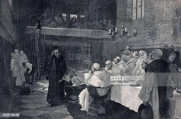 Illustration of Leonardo da Vinci During the Painting of The Last Supper