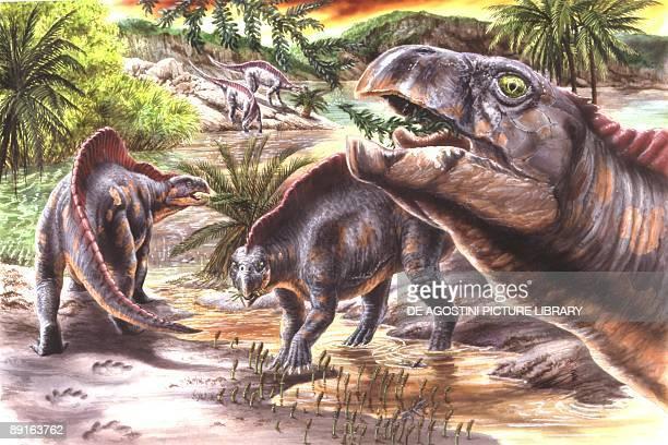 Illustration of Lotosaurus dinosaurus