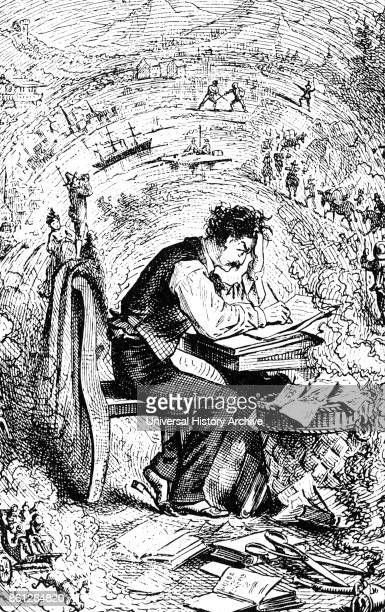 Illustration of Mark Twain an American writer humourist entrepreneur publisher and lecturer Dated 19th Century