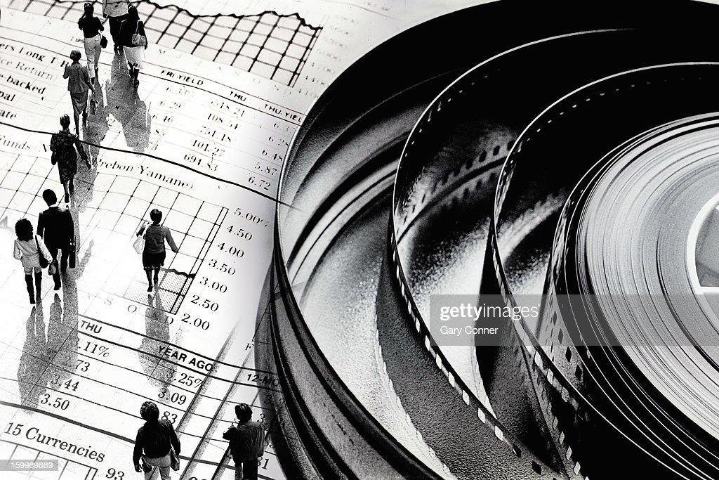 Illustration of movie business : Stock Photo