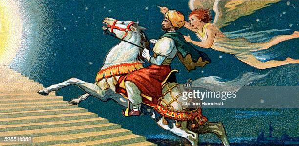 Illustration of Muhammad and Archangel Gabriel