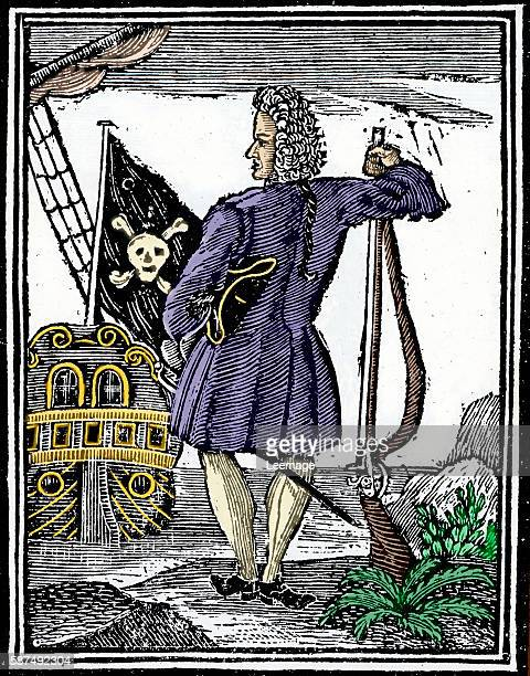 Illustration of Pirate Major Stede Bonnet Major Stede Bonnet a Carolina coast pirate who died on the gallows shortly after his capture in 1718