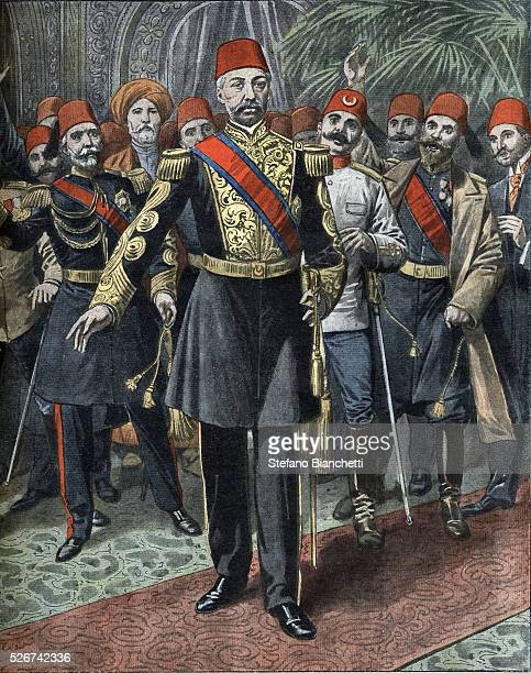 Illustration of Prince Rechad being Proclaimed Sultan Mehmet V in 1909
