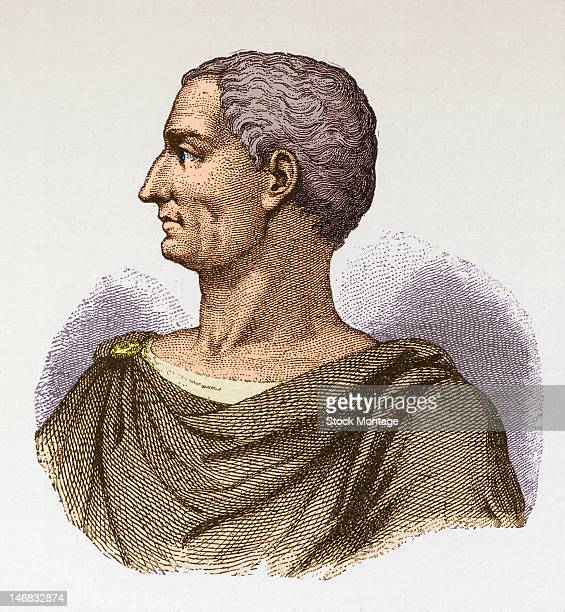 Illustration of Roman emperor Julius Caesar
