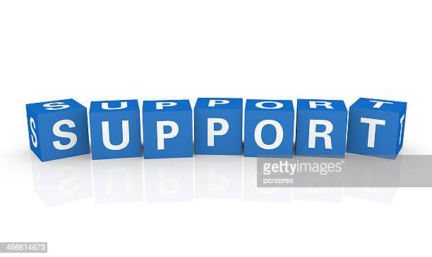 illustration of support spelled in blue cubes - help single word stock pictures, royalty-free photos & images