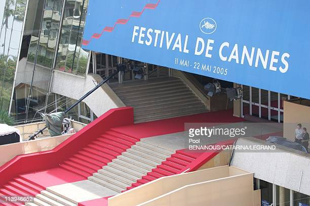 Illustration of the 58th Cannes Film Festival in Cannes France On May 11 2005