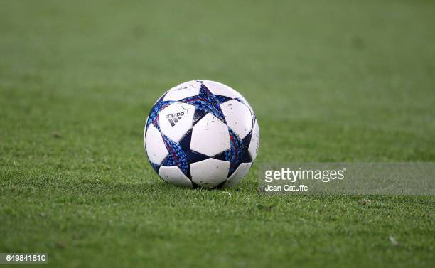 Illustration of the Adidas Champions League ball during the UEFA Champions League Round of 16 second leg match between FC Barcelona and Paris...