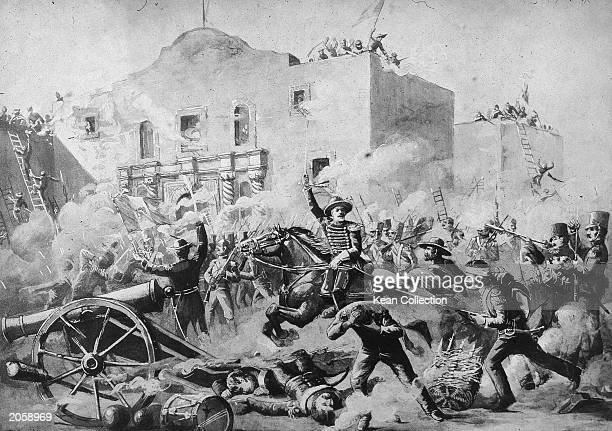 Illustration of the Battle of the Alamo San Antonio Texas March 6 1836