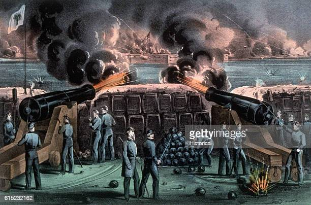 Illustration of the Bombardment of Fort Sumter