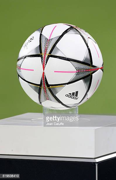 Illustration of the Champions League Adidas match ball before the UEFA Champions League quarter final first leg match between VfL Wolfsburg and Real...