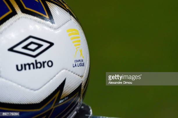 Illustration of the Coupe de la Ligue ball during the french League Cup match Round of 16 between Montpellier and Lyon on December 13 2017 in...