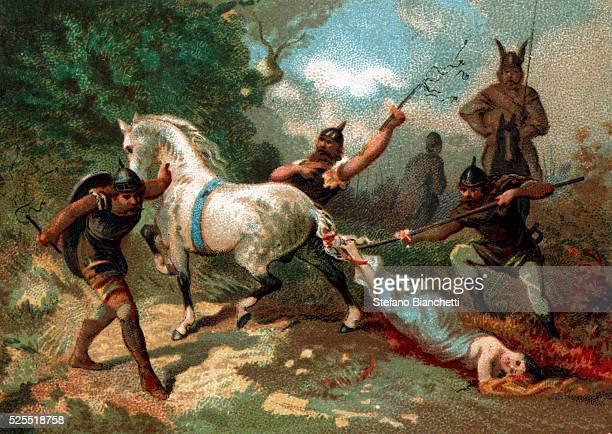 Illustration of the Death of Brunhilda