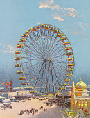 Illustration of the ferris wheel from the worlds columbian exposition picture id517201716?s=170x170