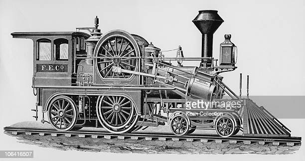 Illustration of the 'Fontaine' locomotive built by the Grant Locomotive Works of Paterson New Jersey in 1881