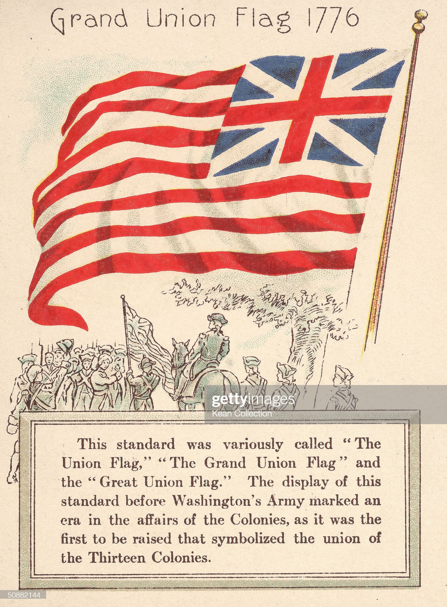 Grand Union Flag Of 1776 : News Photo