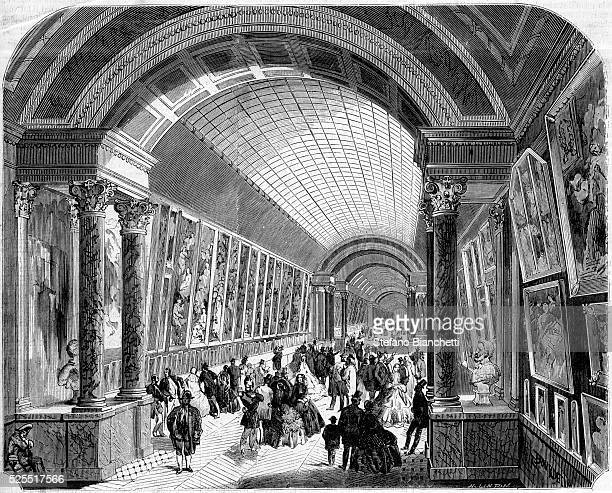 Illustration of the Medici Gallery which houses the series of paintings of Marie de' Medici by Peter Paul Rubens