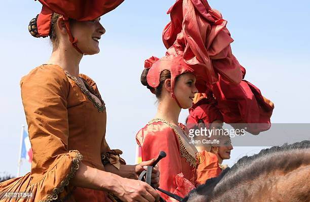 Illustration of the 'Prix de Diane Longines 2015' at Hippodrome de Chantilly on June 14 2015 in Chantilly France