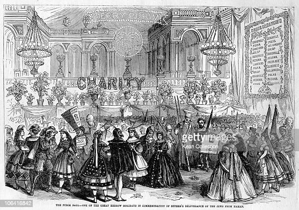 Illustration of the Purim Ball One of the great hebrew holidays in commemoration of Esther's deliverance of the Jews from Haman Taken from Frank...