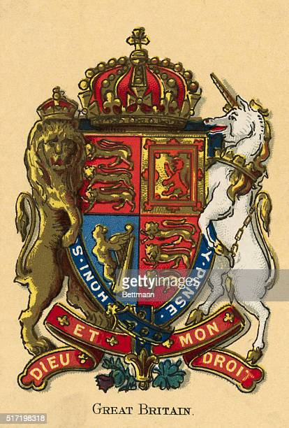 Illustration of the Royal Coat of Arms of the United Kingdom of Great Britain and Ireland