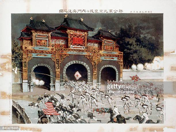 Illustration of the Storming of Peking during the Boxer Rebellion