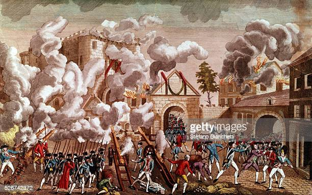 Illustration of the Storming of the Bastille 1789