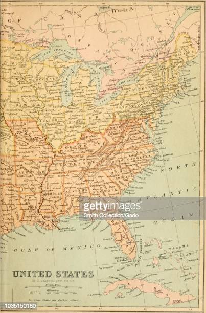 World\'s Best Usa East Coast Map Stock Pictures, Photos, and ...