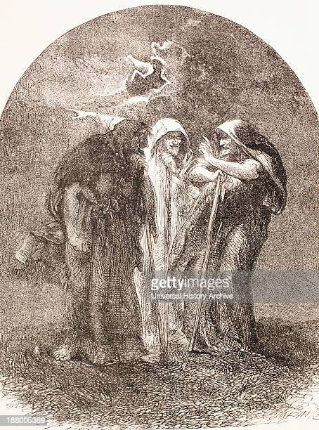 Illustration Of The Witches From Macbeth From The Illustrated Library Shakspeare Published London 1890