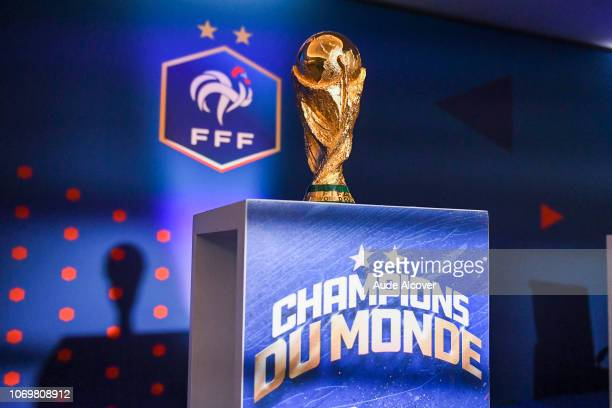 Illustration of the World Cup during the General Meeting of the French football federation at La Seine Musicale on December 8 2018 in Paris France