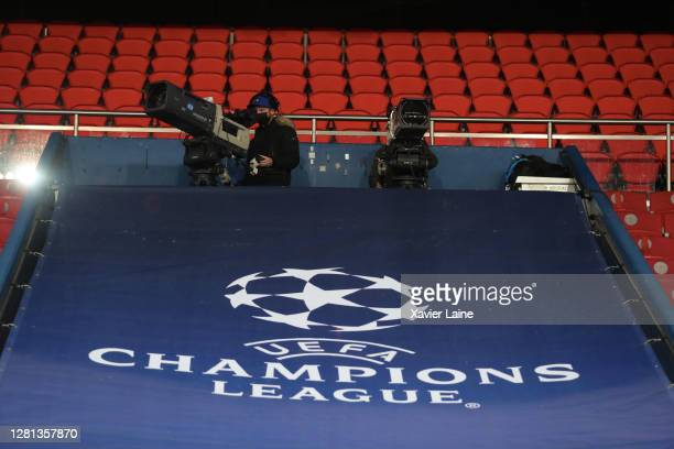 illustration of TV camera during the UEFA Champions League Group H stage match between Paris SaintGermain and Manchester United at Parc des Princes...