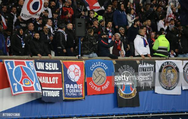 illustration of Ultra Fan of PSG during the Ligue 1 match between Paris SaintGermain and FC Nantes at Parc des Princes on November 18 2017 in Paris
