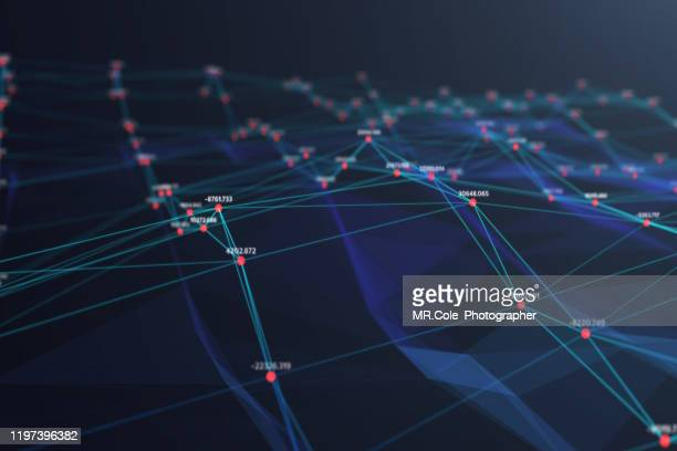 illustration of wave futuristic digital abstract background for science and technology,digital analytics concept - ai stock pictures, royalty-free photos & images