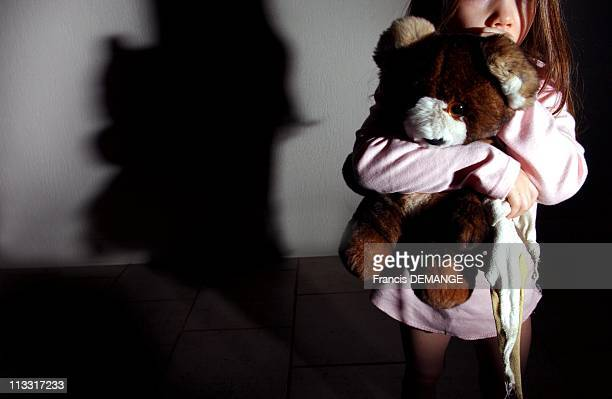 Illustration OfChild Abuse AndPedophilia On February 26Th 2005 In France On March 3Rd starts the biggest trial in France at the Courthouse Of...