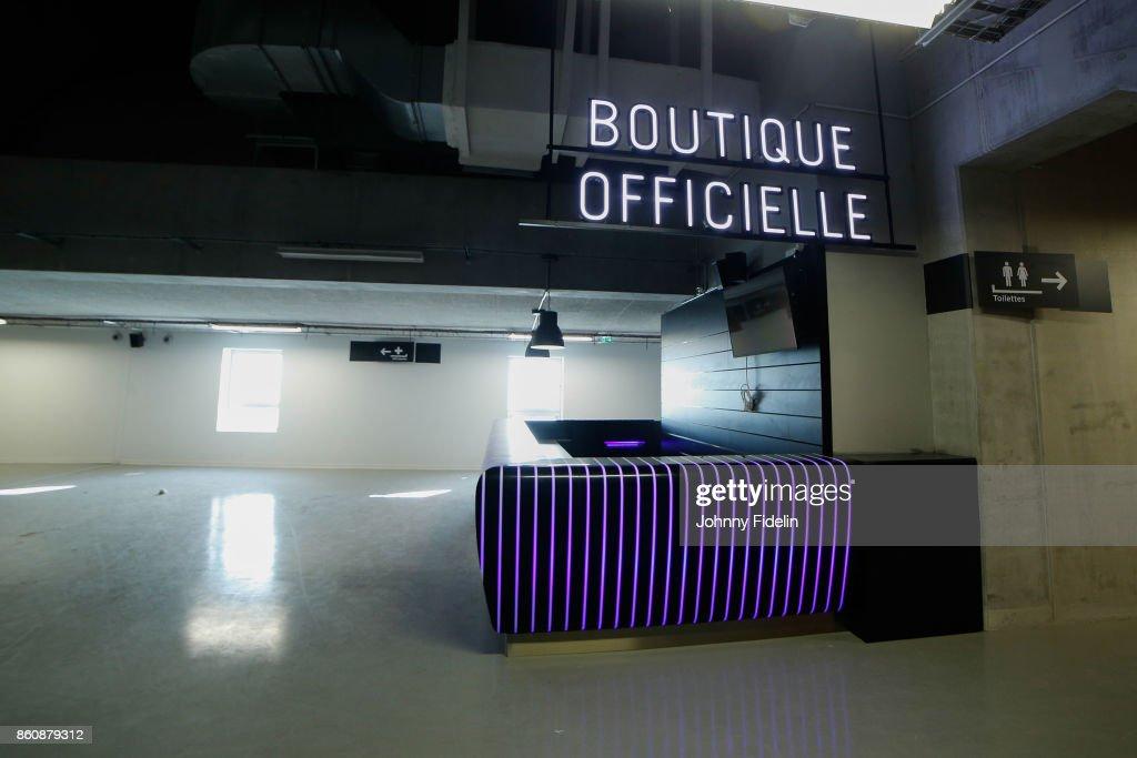 Illustration Official Shop during a visit of U Arena at U Arena on October 13, 2017 in Nanterre, France.