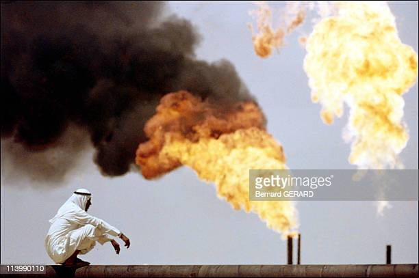 Illustration oil in the Gulf In Qatar On April 12 2002