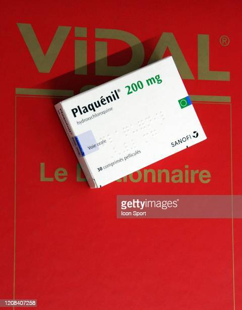 Illustration on Azithromycine and Plaquenil during a shooting photo on March 27 2020 in Paris France