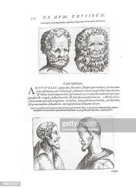 Illustration on Physiognomy from 'De humana physiognomonia libri IIII'; By Giambattista della Porta , also known as Giovanni Battista Della Porta an...