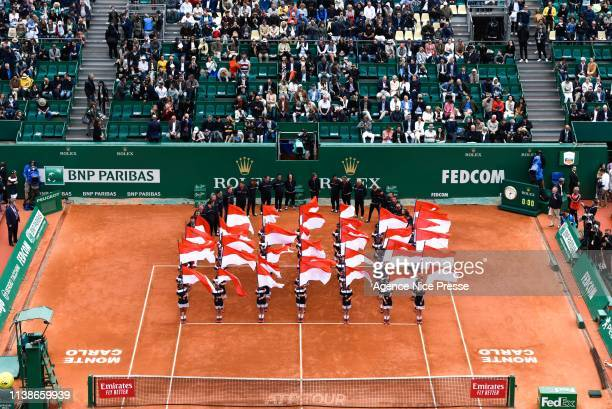 Illustration Opening Ceremony during the 2019 Monte Carlo Rolex Masters 1000 day one on April 21 2019 in Monaco Monaco