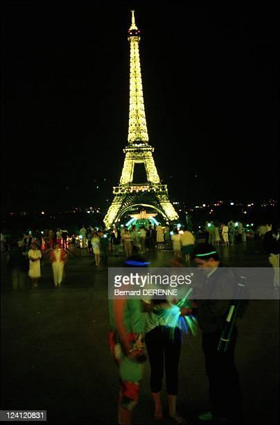 Illustration Paris France in September 1988 Eiffel tower