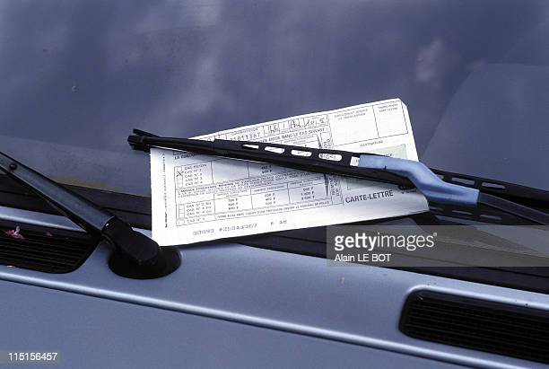 Illustration Parking Ticket in France in May 1996