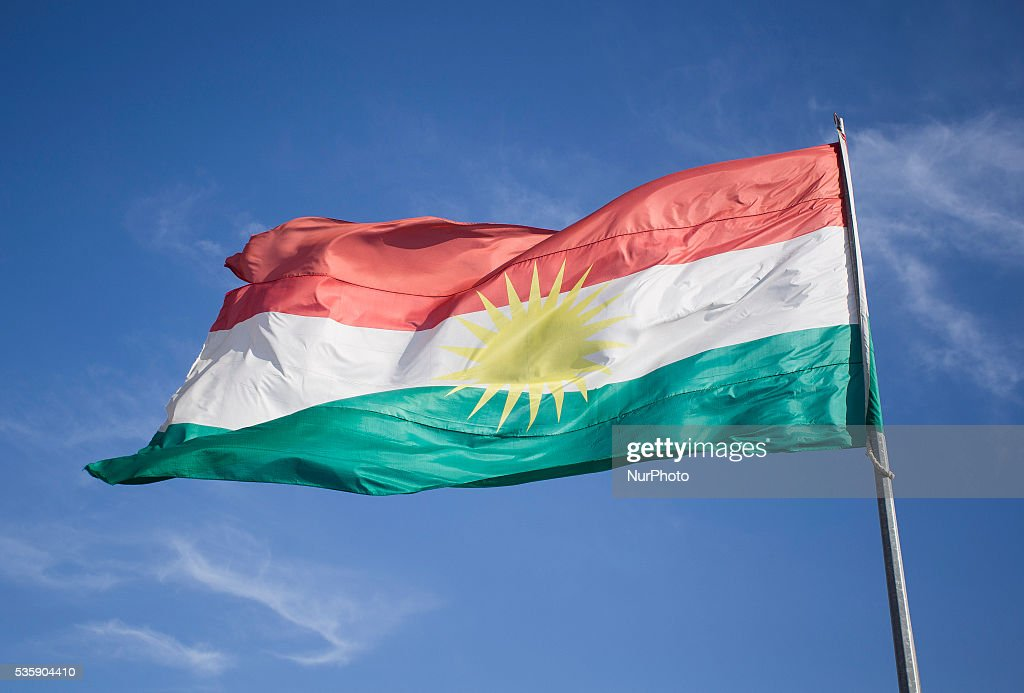 Illustration photo of Kurdistan flag. 30 May, Kurdistan