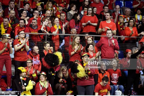 illustration picture of Belgian fans during Ruben Bemelmans of Belgium vs Marton Fucsovics pictured during the Davis Cup World Group first round...