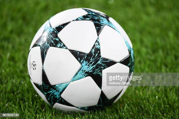 Illustration picture of champions league official ball during the UEFA Champions League match between RSC Anderlecht and Paris SaintGermain at...