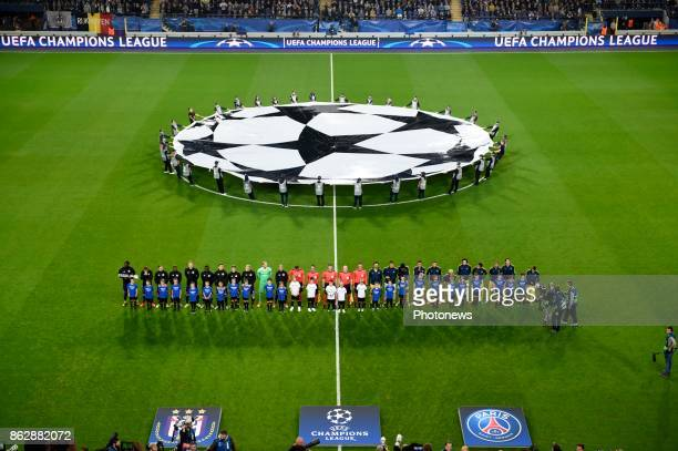 illustration picture of CVDS stadium with logo champion league during the Champions League Group B match between RSC Anderlecht and Paris...