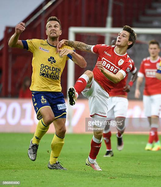 illustration picture of empty stadium and Steven De Petter midfielder of STVV and Benito Raman of Standard Liege pictured during Jupiler Pro League...