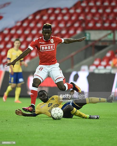 Illustration picture of empty stadium Jean-Luc Diarra Dompe midfielder of Standard Liege pictured during Jupiler Pro League second day competition...