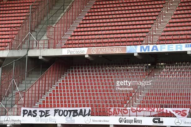 Illustration picture of empty stadium pictured during Jupiler Pro League second day competition match between Standard of Liege STVV without fans...