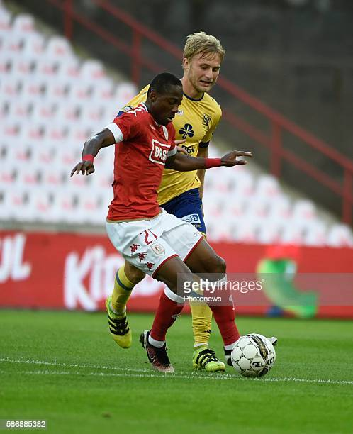 Illustration picture of empty stadium with Eyong Enoh midfielder of Standard Liege pictured during Jupiler Pro League second day competition match...