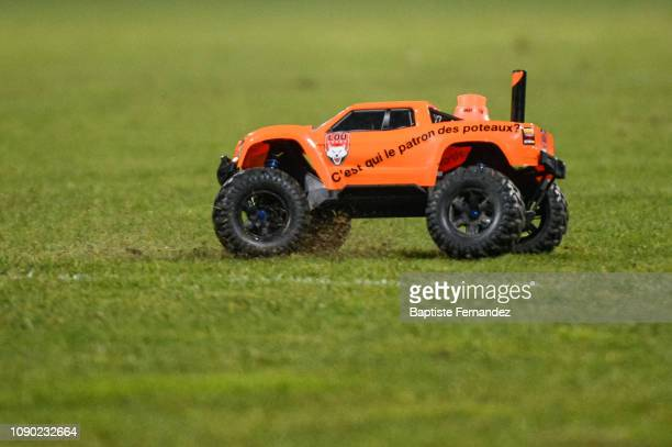 Illustration picture of Lyon LOU remote control car during the French Top 14 Rugby match between Lyon OU and Racing 92 at Gerland Stadium on January...