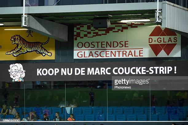 Illustration picture of Marc Coucke President of KV Oostende pictured during Jupiler Pro League match between KV Ostende and Mouscron on August 14,...